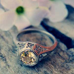 Beautiful ring with shining stone