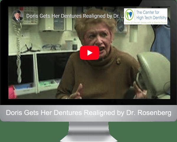 Doris Gets Her Dentures Realigned by Dr. Rosenberg