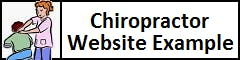 Chiropractor Website Example