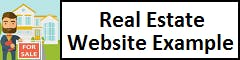 Real Estate Website Example