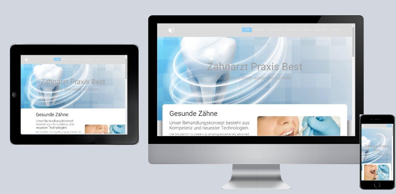 Zahnarzt, Dentist Praxis Webdesign