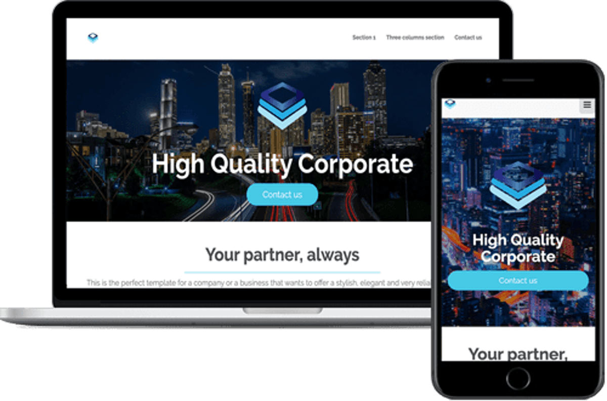 Corporate Site Theme 1