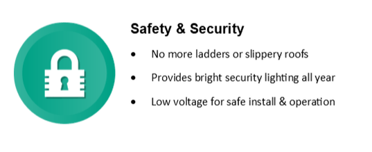 Safe and secure lighting and installation.
