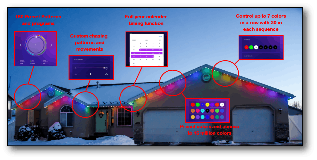 Programmable Christmas Lights features.