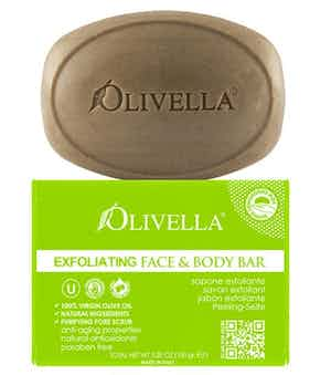 Olivella Exfoliating 100% Virgin Olive Oil Face & Body Bar Soap
