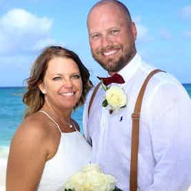 Small Vow Renewal on Nuptial Beach Nassau Bahamas
