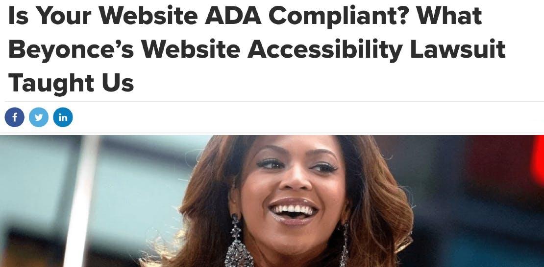 ADA Compliance - Beyonce