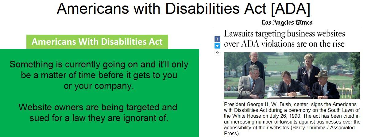 ADA Compliance - LA Times Article