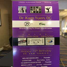 Dr. Kam Yuen's 75th Birthday Party Poster