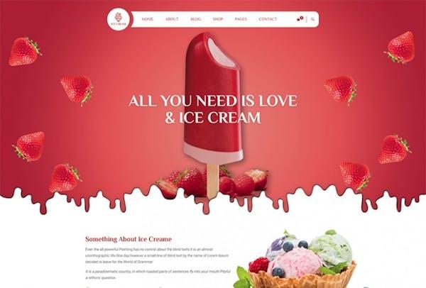 ICE CREAM SHOP HTML TEMPLATE