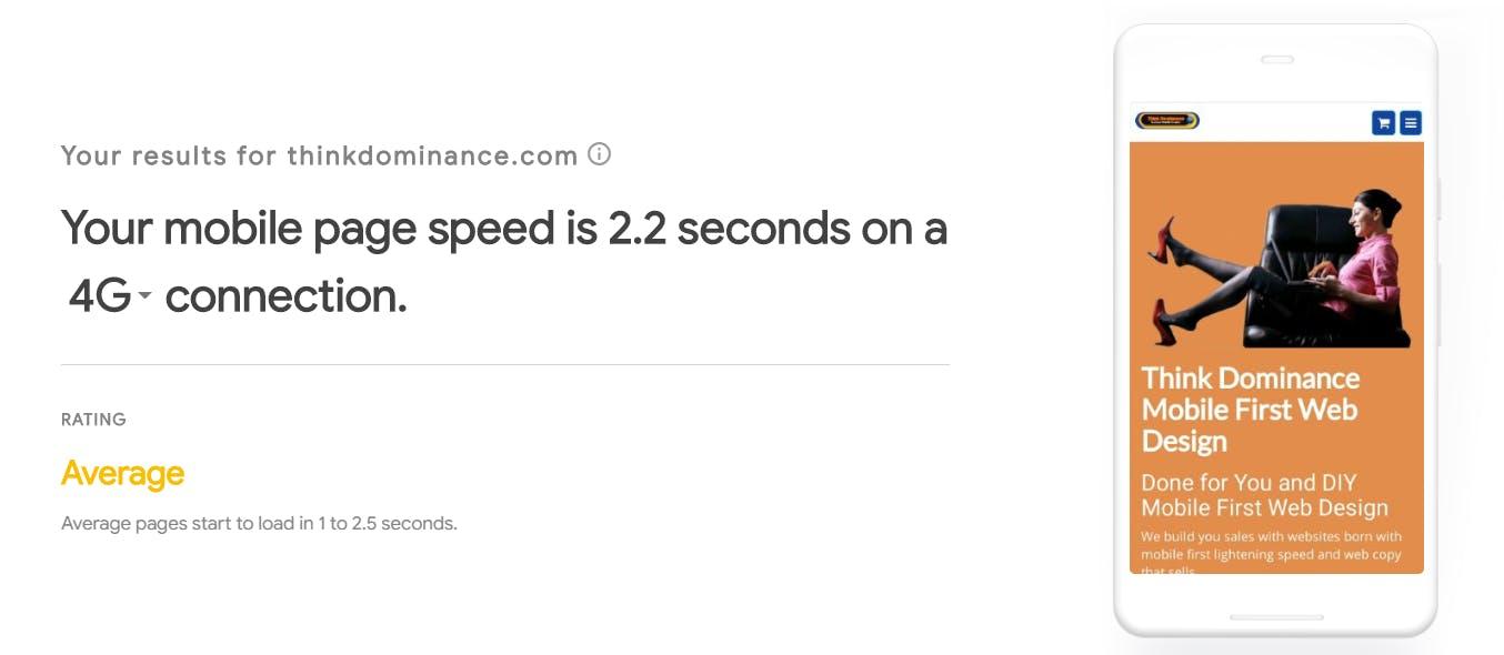 thinkdominance speed test