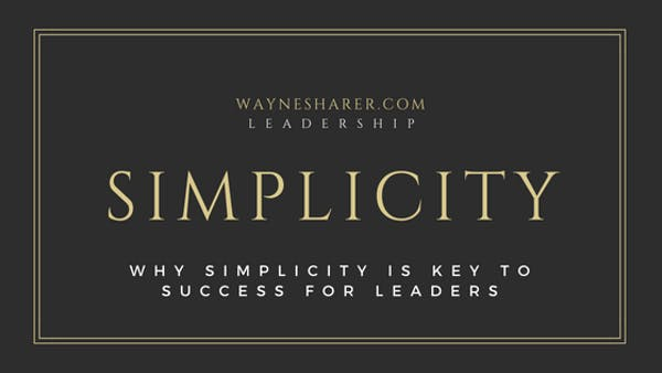 Simplicity in Leadership Development