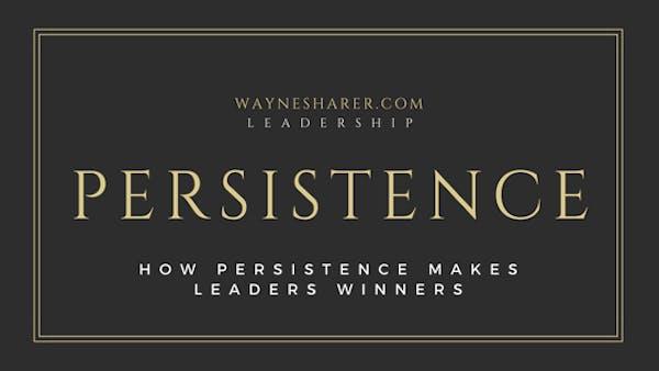 Persistence in Leadership