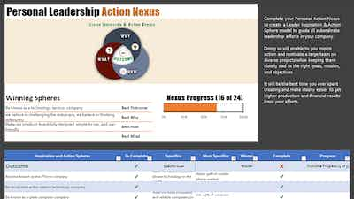 How to Create Your Personal Leadership Action Nexus (PLAN)