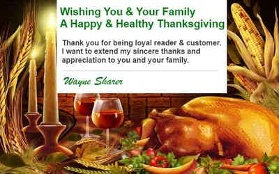 Happy Thanksgiving to You and Your Family