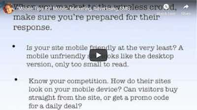 """Mobile Tips #3"" Mobile, Marketing, Advertising, SMS"
