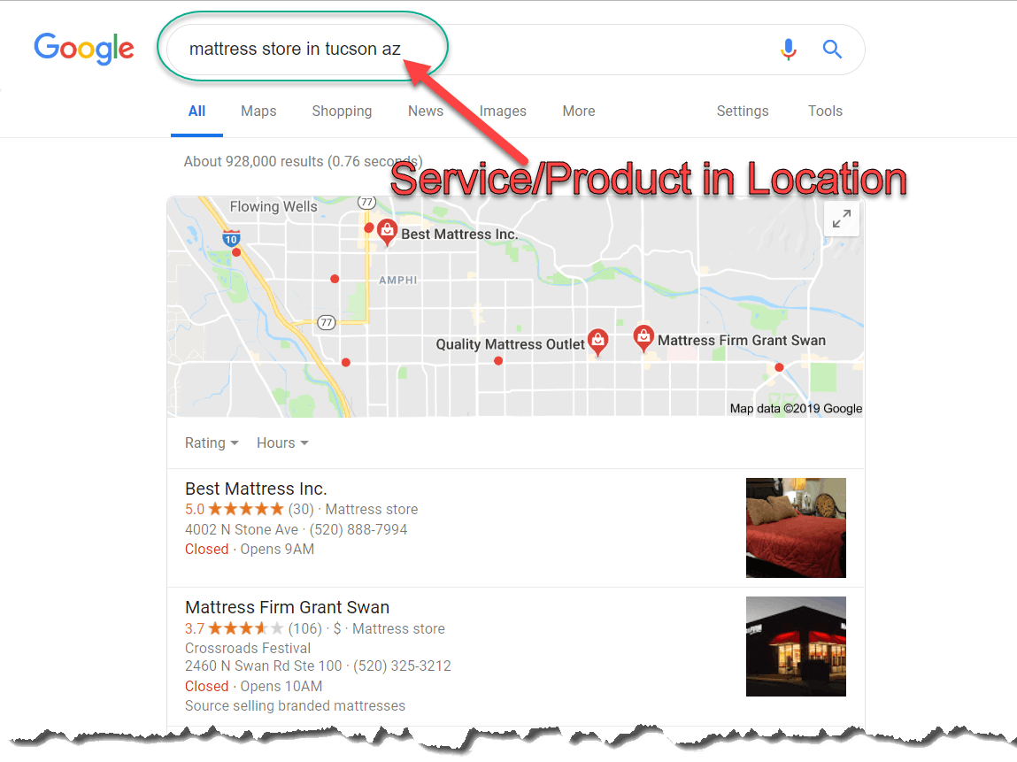keyword research - search in location