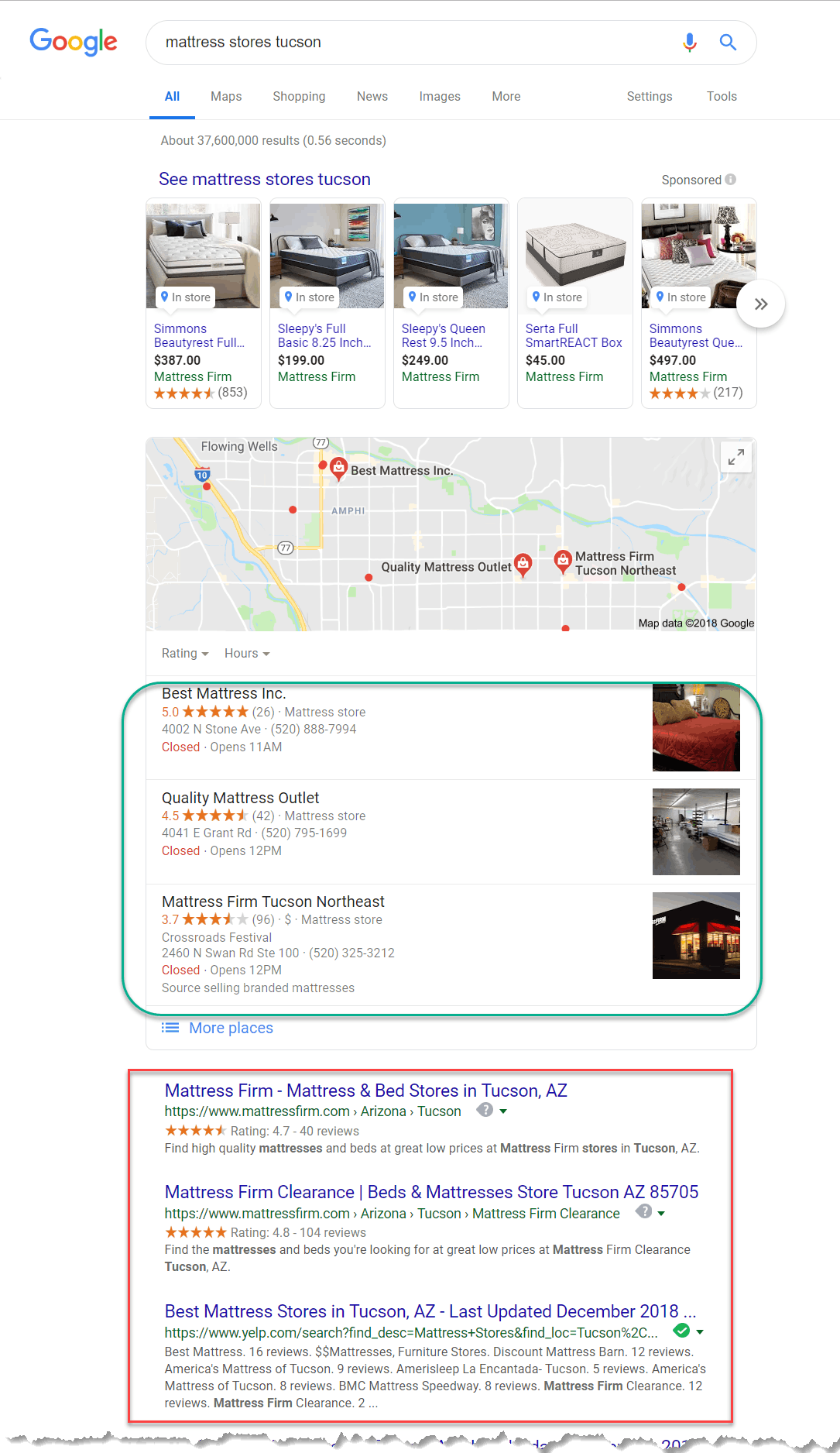 mattress stores Tucson Google Search image