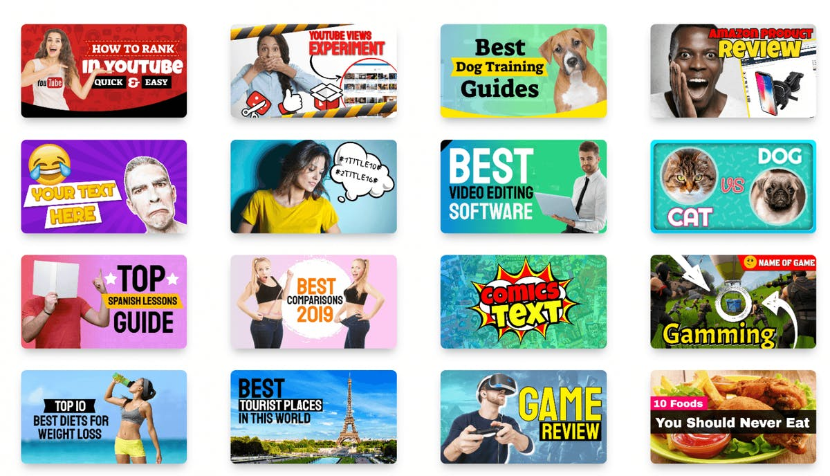 example video thumbnails
