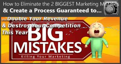 How to Eliminate the 2 Biggest Marketing Mistakes & Create a Process to Double Your Revenues in the Next 12 Months