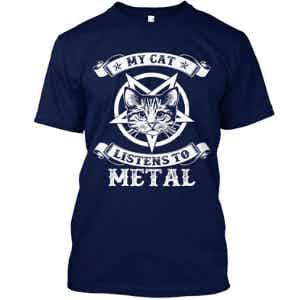My Cat Listens to Metal T-shirt