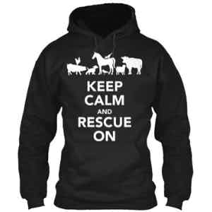 Keep Calm and Rescue On Hoodie