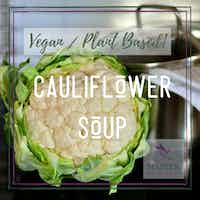 Vegan Cauliflower Soup