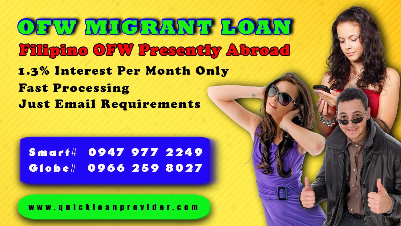 OFW Migrant Loan by Quickloanprovider.com