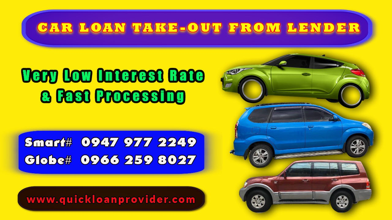 Car Loan Take-out from Lender by Quickloanprovider.com