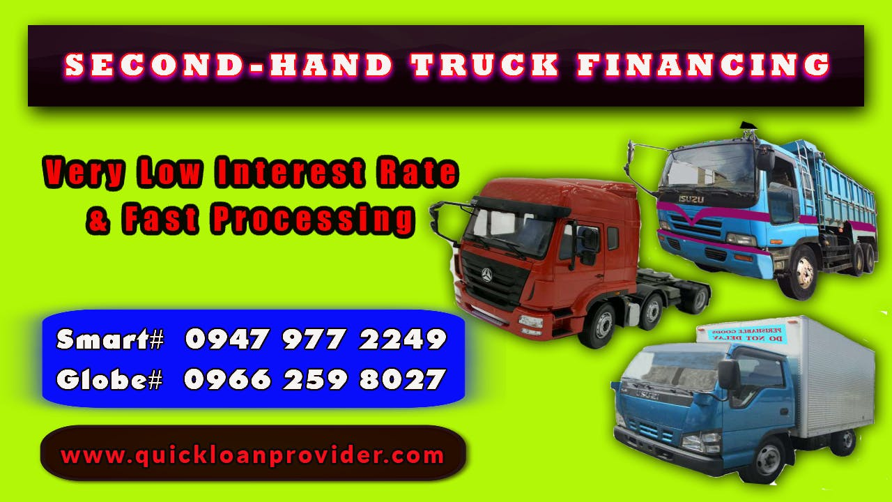Second-Hand Truck Financing Philippines by Quickloanprovider