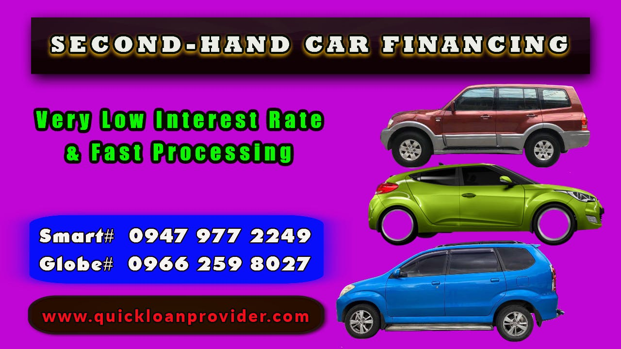 Second-Hand Car Financing Philippines by Quickloanprovider.com