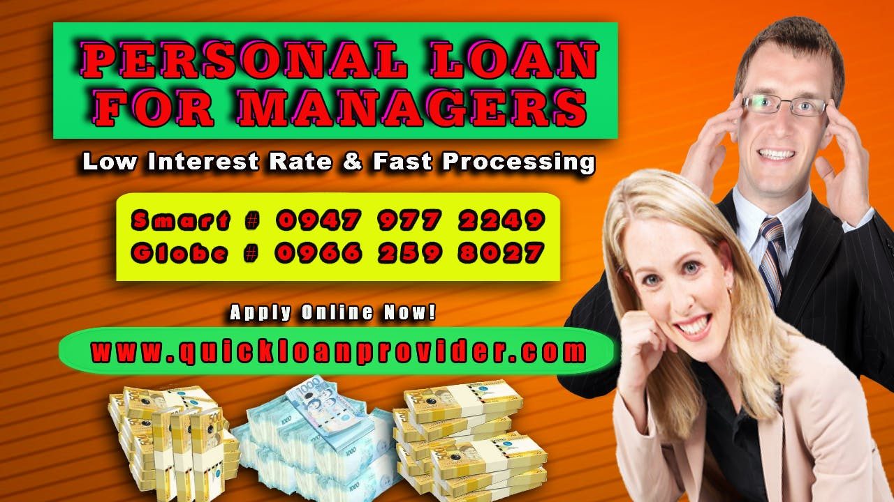 Personal Loan For Managers by Quickloanprovider.com