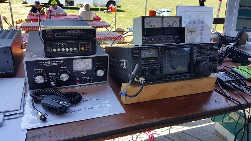 Operating WECA Field Day on The Gazebo