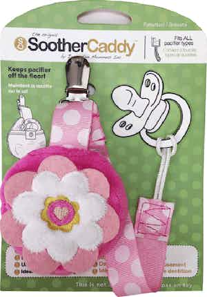Soother Caddy Pink Flower