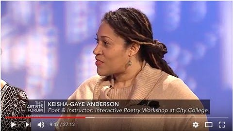 Keisha Gaye on the Artist's Forum