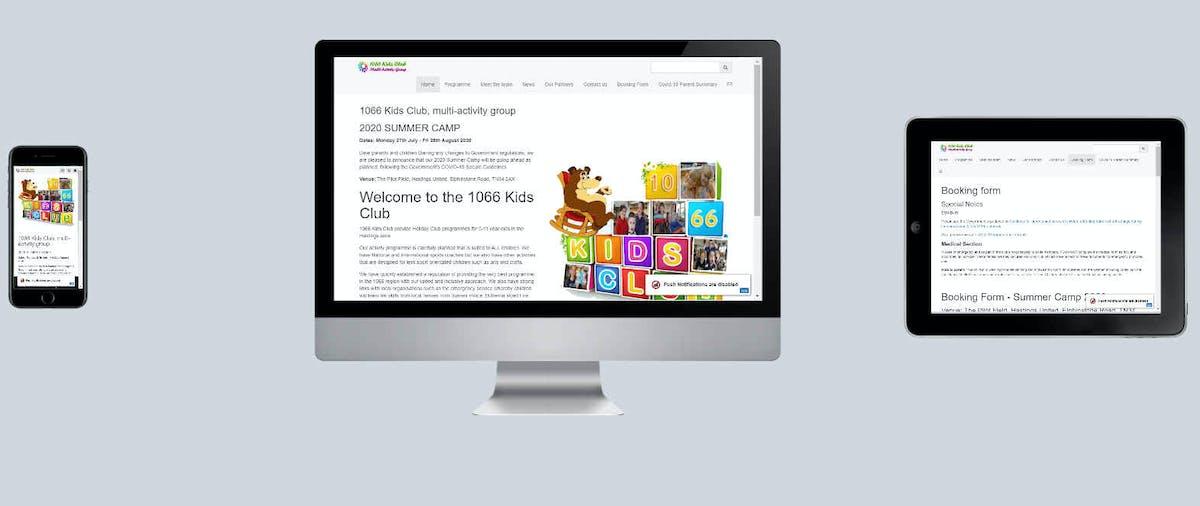 1066 Kids Club PWA Design Website