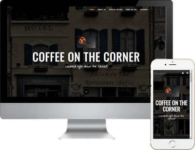 coffe shop responsive design