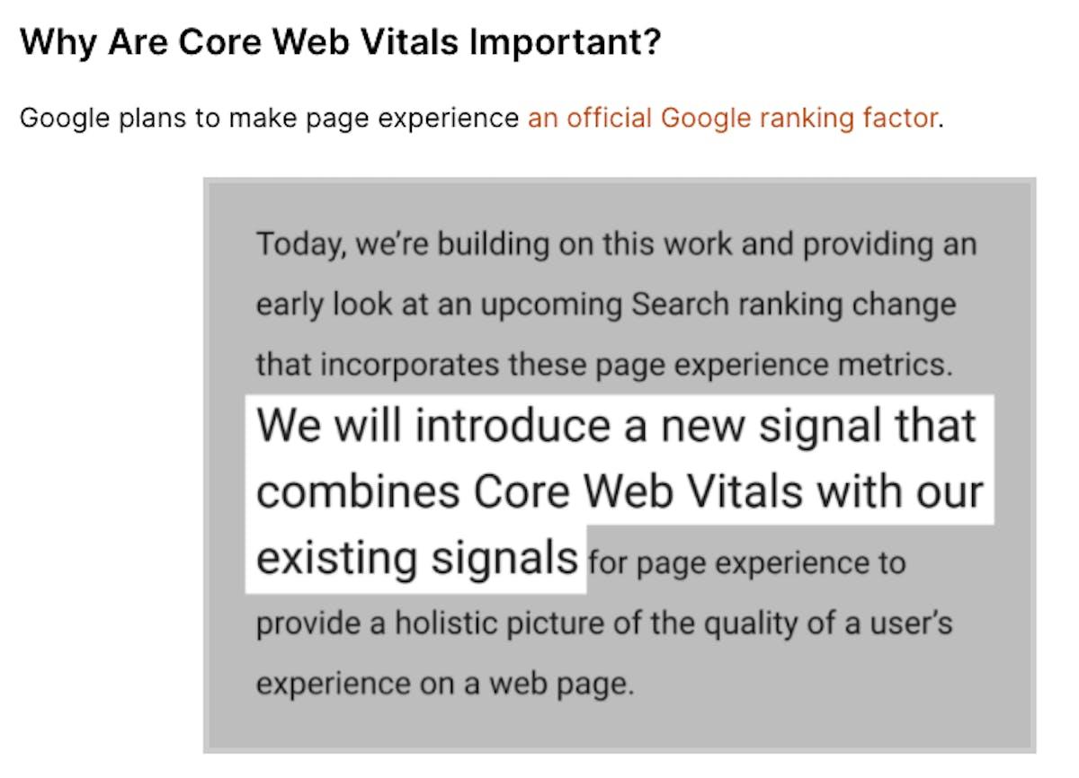 Core Web Vitals and major Google Update coming