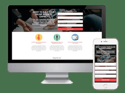 Landing - Online Business Webinar Landing Page