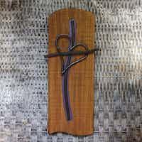 Metal Heart Cross