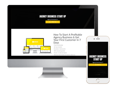 Landing - Agency Business Start Up