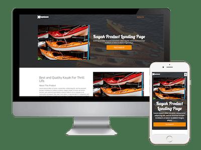 Landing - Kayak Product Landing Page