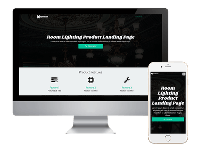 Landing - Room Lighting Product Landing Page