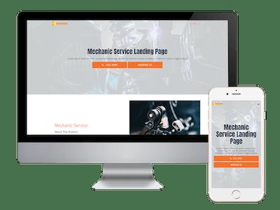 Landing - Mechanic Service Landing Page