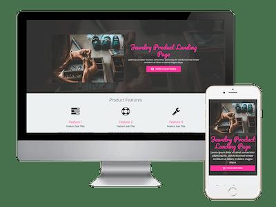 Landing - Jewelry Product Landing Page