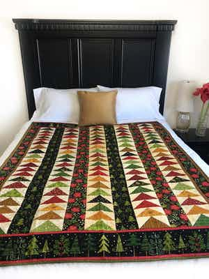 Christmas Flying Geese Lap Quilt