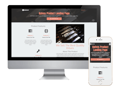 Landing - Knives Product Landing Page