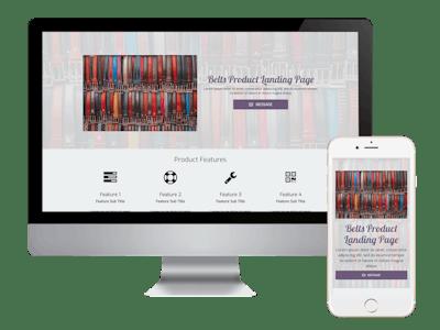 Landing - Belts Product Landing Page