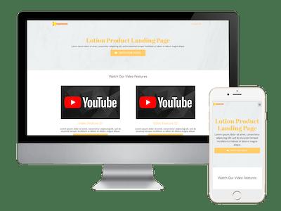 Landing - Lotion Product Landing Page