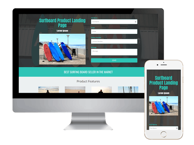 Landing - Surfboard Product Landing Page